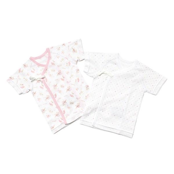 オーガニックコットン新生児短肌着2枚組