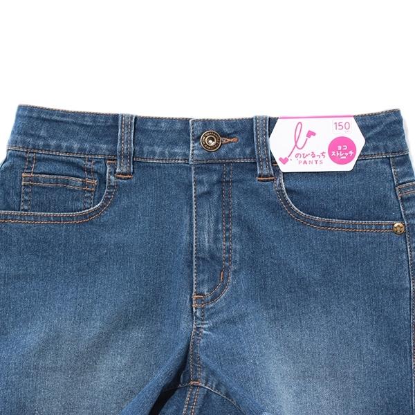 のびるっちデニム裾フリンジショートパンツ 商品画像 (1)