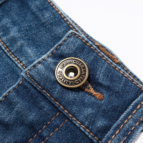 のびるっちデニム裾フリンジショートパンツ 商品画像 (2)