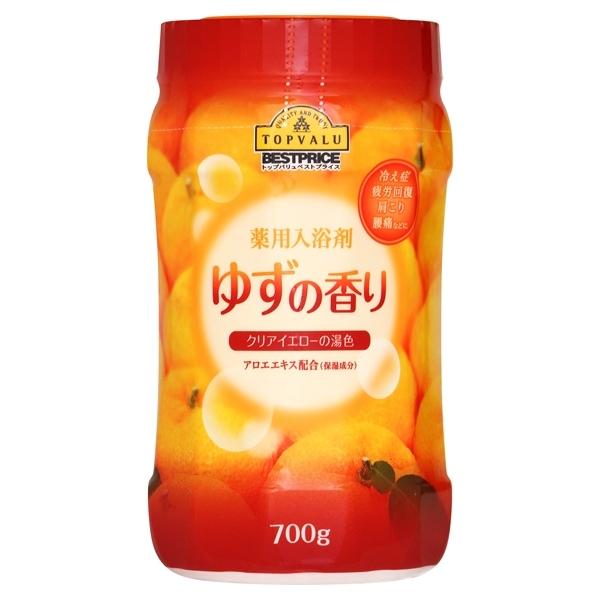 薬用入浴剤 ゆずの香り クリアイエローの湯色 アロエエキス配合(保湿成分) 商品画像 (メイン)