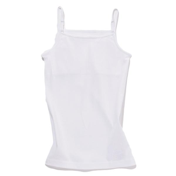オーガニック綿スクールキャミソール肩紐調整(胸二重)
