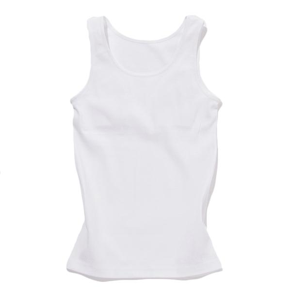 オーガニック綿スクールタンクトップ(胸二重)