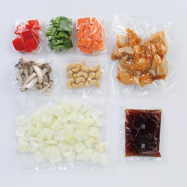 CooKit 彩り野菜と鶏肉のカシューナッツ炒め まるごと献立キット クッキット 商品画像 (1)