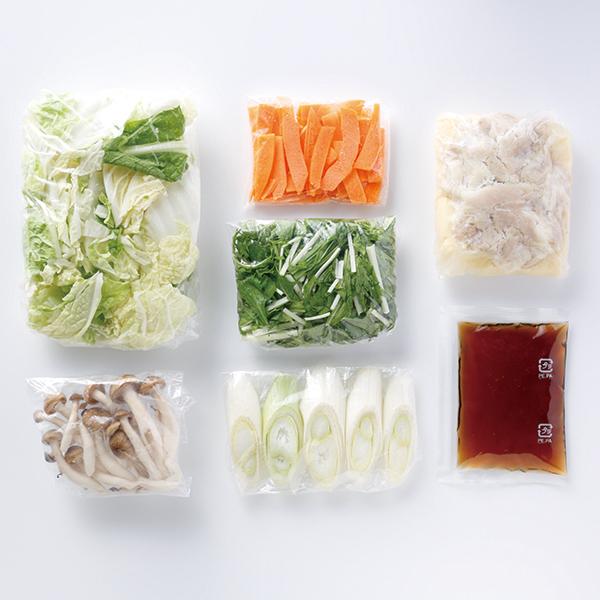 CooKit 白だし仕立て 豚肉の塩ちゃんこ鍋 まるごと献立キット クッキット 商品画像 (1)
