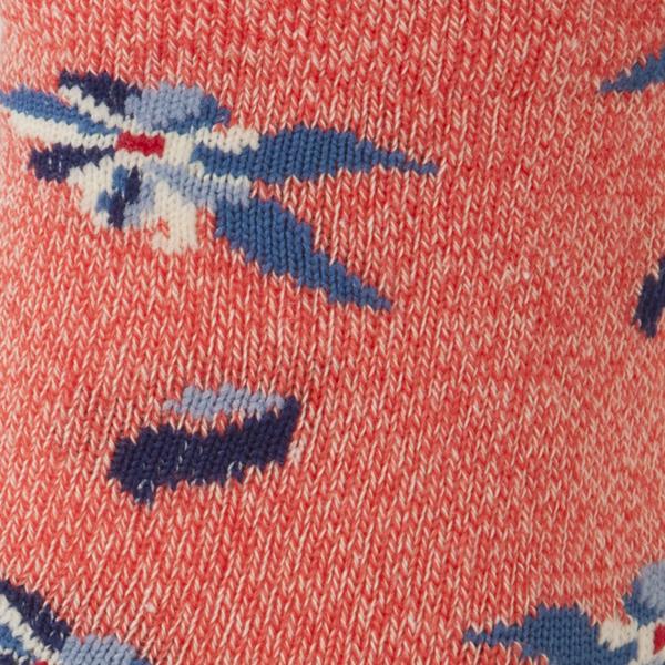 レッグアクセサリー 花柄クルーソックス 商品画像 (1)