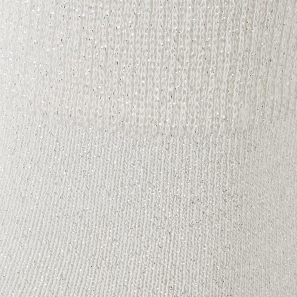 レッグアクセサリー ラメ無地クルーソックス 商品画像 (1)