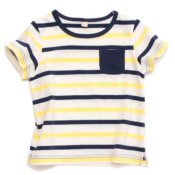 オーガニックコットンマルチボーダー半袖Tシャツ