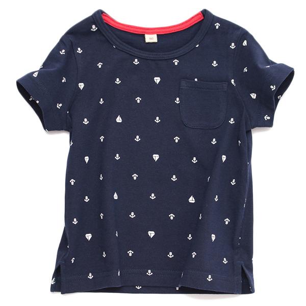 オーガニックコットン総柄半袖Tシャツ