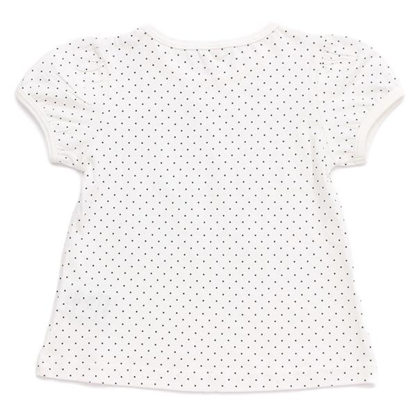 オーガニックコットン水玉半袖Tシャツ 商品画像 (0)