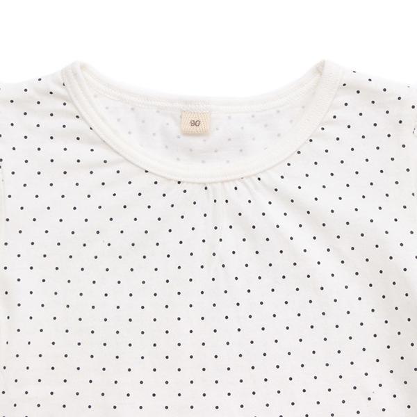 オーガニックコットン水玉半袖Tシャツ 商品画像 (1)