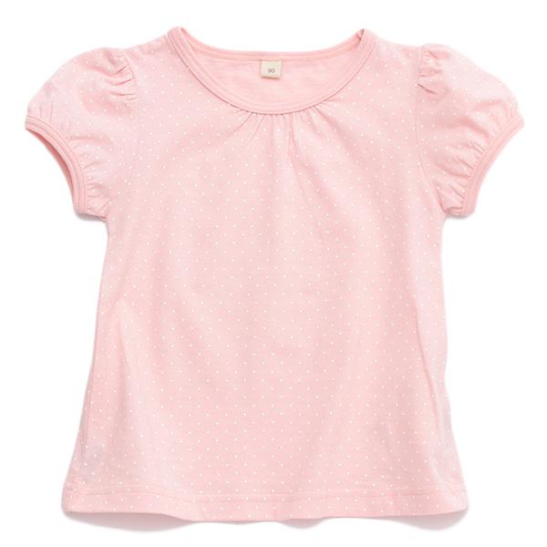 オーガニックコットン水玉半袖Tシャツ