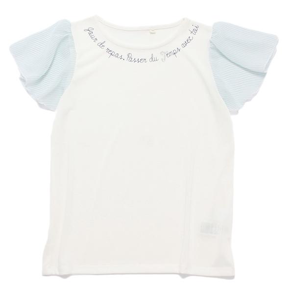 くーるっち袖ストライプTシャツ