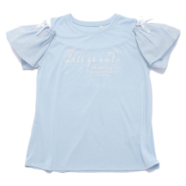 くーるっち肩あき袖レースTシャツ