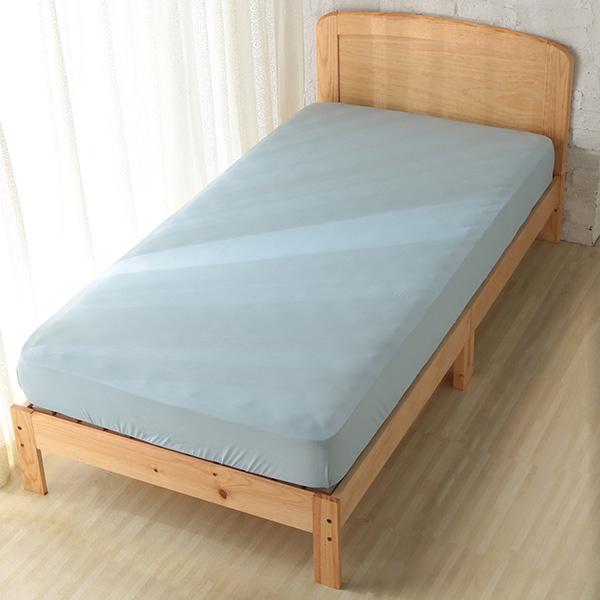 HOME COORDY ベッド用ワンタッチシーツ【ひんやり】 ブルー