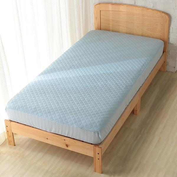 HOME COORDY ベッド用敷パッド【ひんやり】 ブルー
