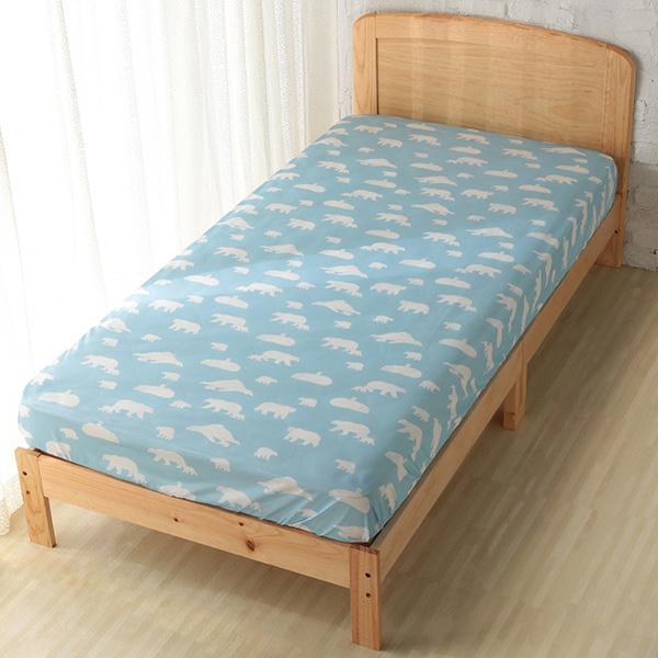 HOME COORDY ベッド用ワンタッチシーツ【ポーラベア】 ブルー