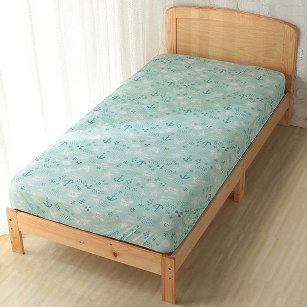 HOME COORDY ベッド用ワンタッチシーツ【マリン】 グリーン