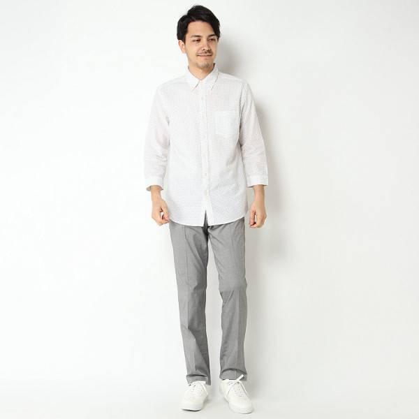 【選べるウエスト&股下サイズ】 夏サラノータックパンツ (ウスクロ) 商品画像 (4)