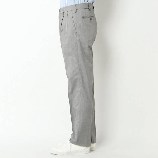 【選べるウエスト&股下サイズ】 夏サラツータックパンツ (ウスクロ) 商品画像 (0)