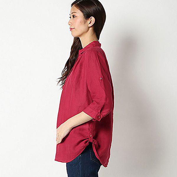 麻100%裾ターンバックスキッパーシャツ 商品画像 (0)