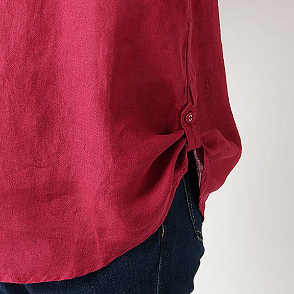 麻100%裾ターンバックスキッパーシャツ 商品画像 (3)