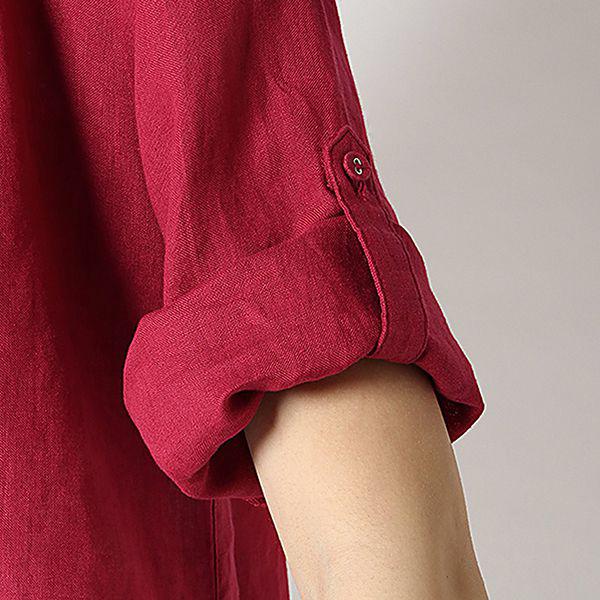 麻100%裾ターンバックスキッパーシャツ 商品画像 (4)