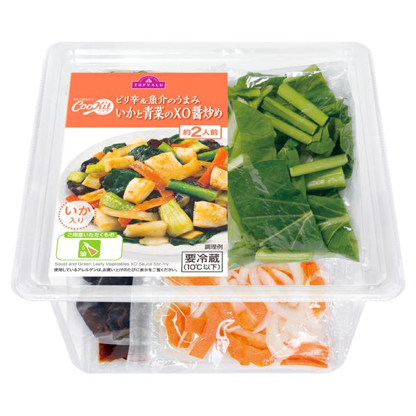 CooKit ピリ辛&魚介のうまみいかと青菜のXO醤炒め まるごと献立キット クッキット 商品画像 (0)