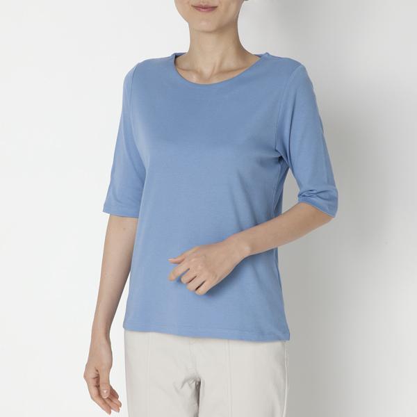 クルーネック5分袖Tシャツ