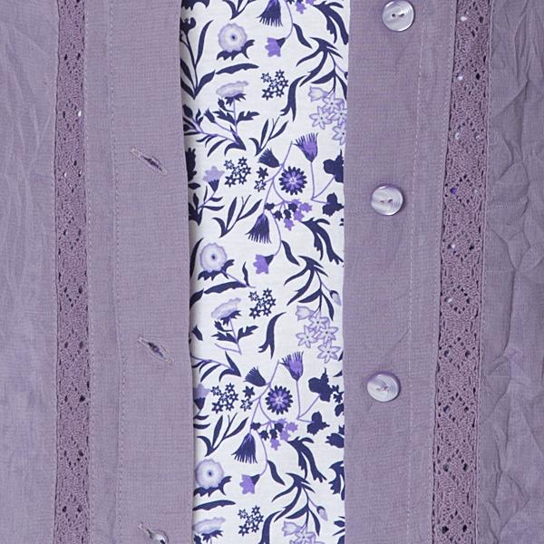 7分袖花柄アンサンブルレース仕様 商品画像 (4)