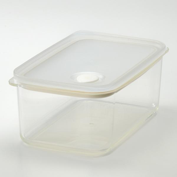 バルブ付き密閉保存容器 M深型(1.0L) HOME COORDY