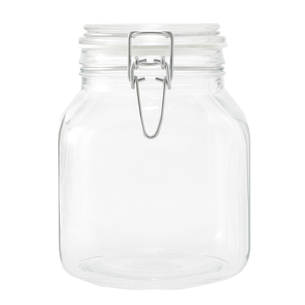 HOME COORDY バネ付密閉ガラス瓶 1700ml