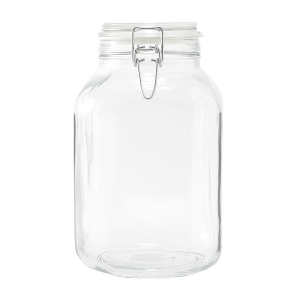 HOME COORDY バネ付密閉ガラス瓶 3100ml