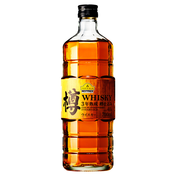 FINE BLENDED WHISKY 3YEARS OLD 3年熟成 樽仕込みウイスキー ALC.40%