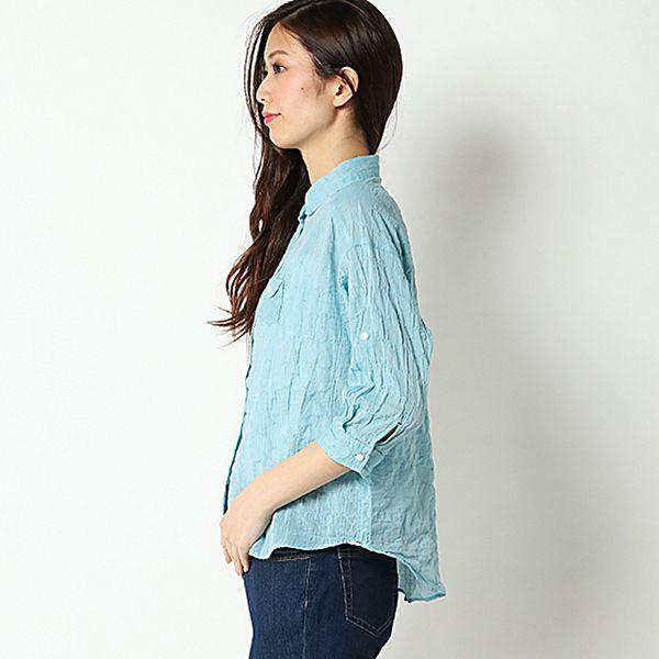 オーガニックコットン 綿ポリウレタンゆるシャツ 商品画像 (0)