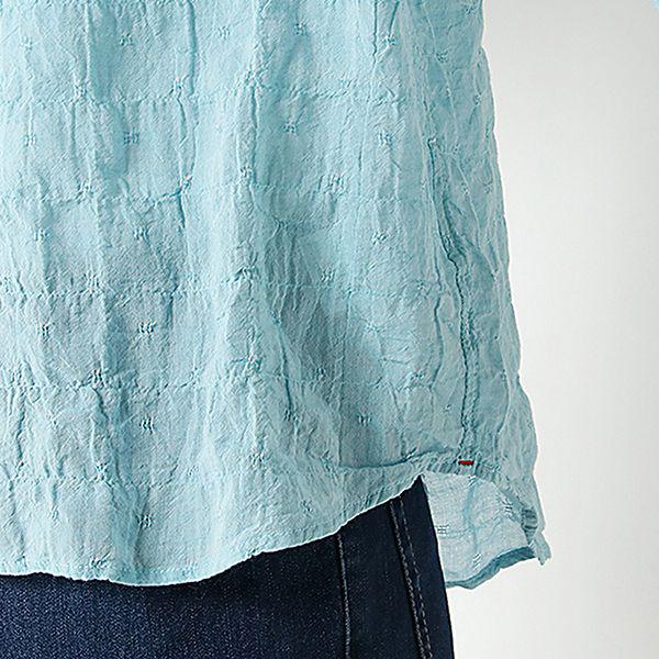 オーガニックコットン 綿ポリウレタンゆるシャツ 商品画像 (3)