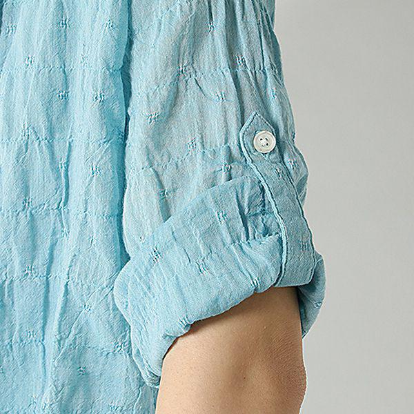 オーガニックコットン 綿ポリウレタンゆるシャツ 商品画像 (4)