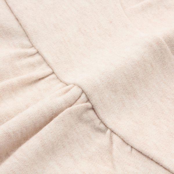オーガニックコットン 胸切替ハイネックTシャツ 商品画像 (1)