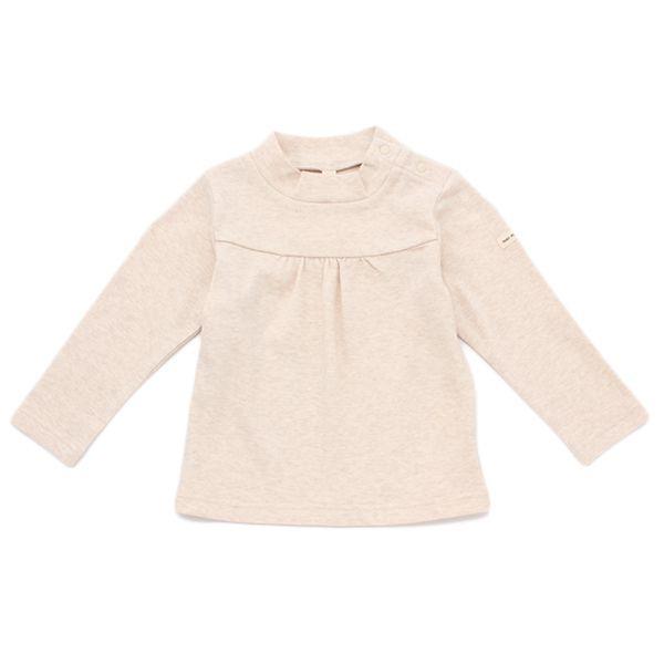 オーガニックコットン 胸切替ハイネックTシャツ 商品画像 (メイン)