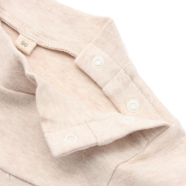 オーガニックコットン 胸切替ハイネックTシャツ 商品画像 (2)