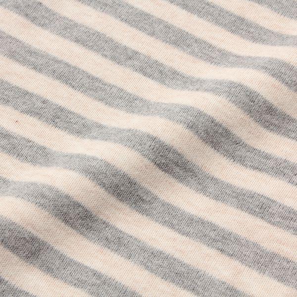 オーガニックコットン ボーダーハイネックTシャツ 商品画像 (1)