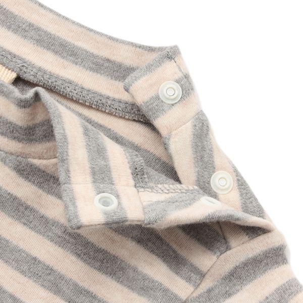 オーガニックコットン ボーダーハイネックTシャツ 商品画像 (2)