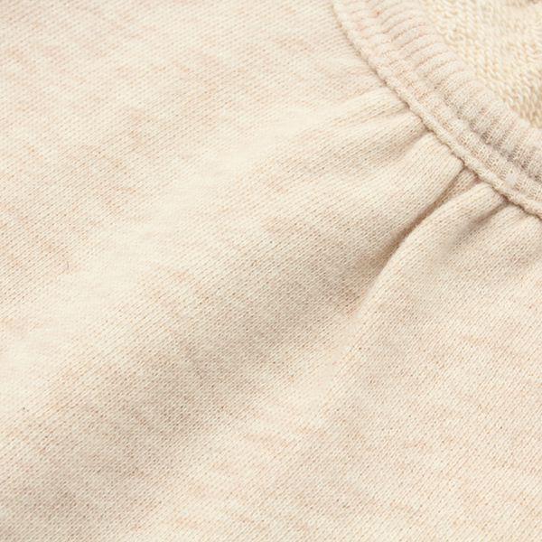 オーガニックコットン 裾フリルチュニックトレーナー 商品画像 (1)