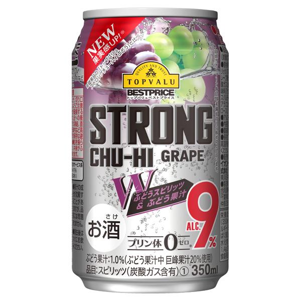 STRONG CHU-HI GRAPE Wぶどうスピリッツ&ぶどう果汁 ALC.9%