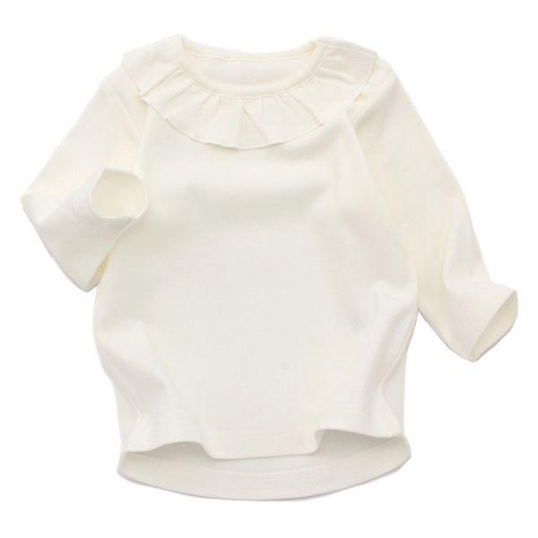 オーガニックコットン スムース編み 襟付長袖Tシャツ 【2枚よりどり1280円(本体価格)】