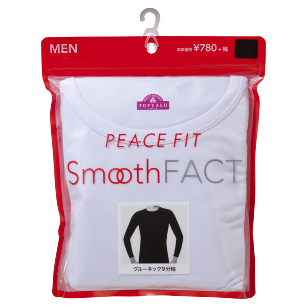 PEACE FIT Smooth FACT クルーネック(9分袖) 商品画像 (2)