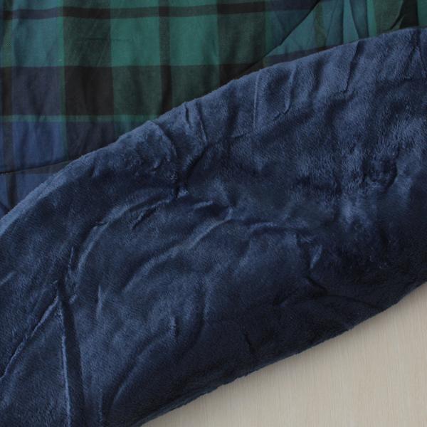 HOME COORDY ブラックウオッチ楕円形こたつ掛ふとん グリーン 商品画像 (1)