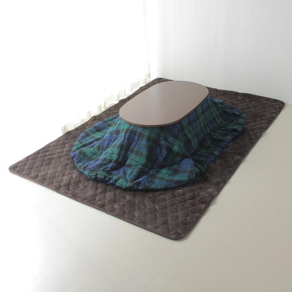 HOME COORDY ブラックウオッチ楕円形こたつ掛ふとん グリーン 商品画像 (メイン)