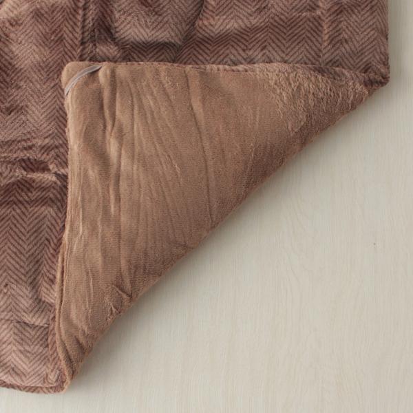 HOME COORDY ヘリンボーン長方形こたつ掛ふとん ブラウン 商品画像 (1)