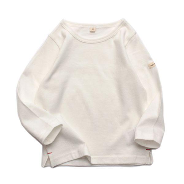 オーガニックコットン 無地長袖Tシャツ