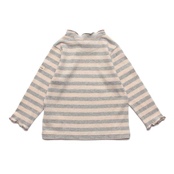 オーガニックコットン ボーダーメロウ首天竺長袖Tシャツ 商品画像 (0)